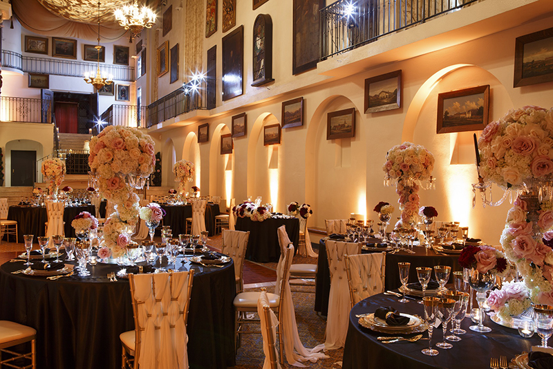 The Mission Inn Hotel & Spa - The Spanish Art Gallery - Wedding_Celebration Setup 2
