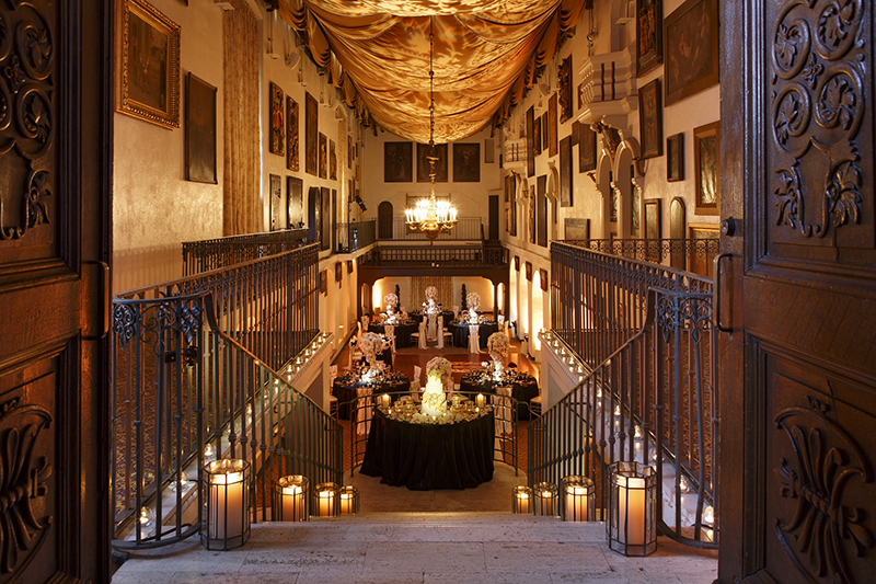 The Mission Inn Hotel & Spa - The Spanish Art Gallery - Wedding_Celebration Setup