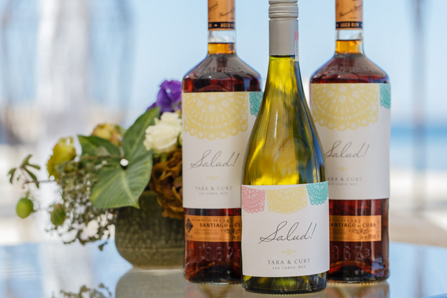 custom wedding wine