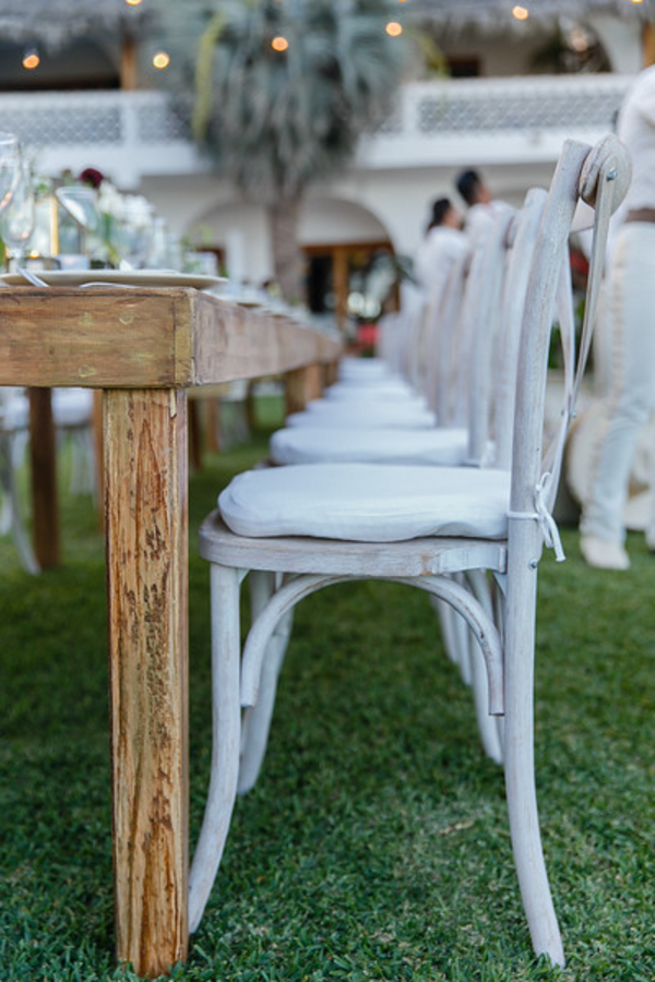 rustic wedding tables