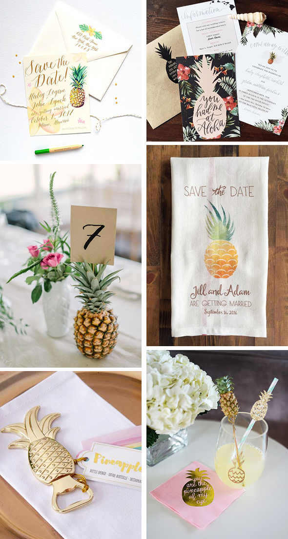 pineapple wedding details