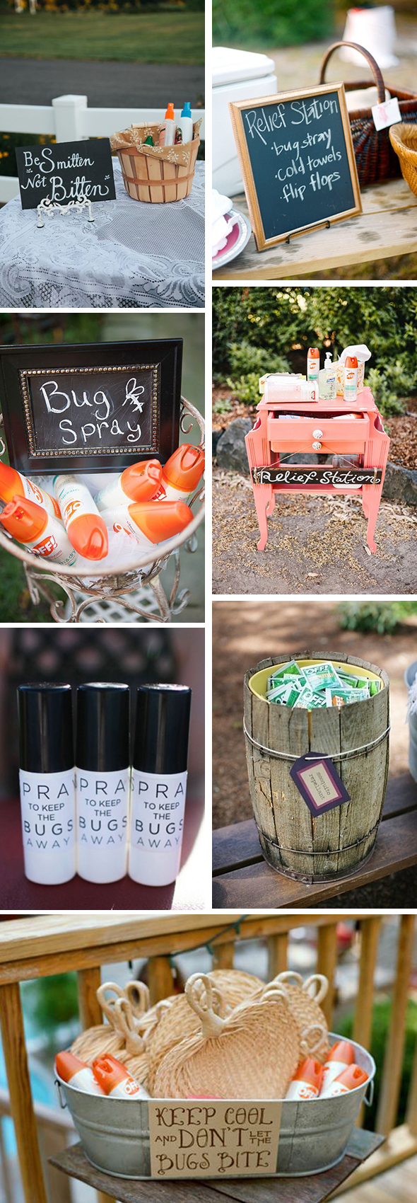 wedding bug spray ideas