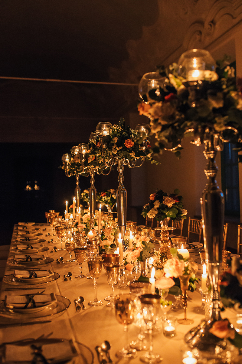 romantic wedding table italy