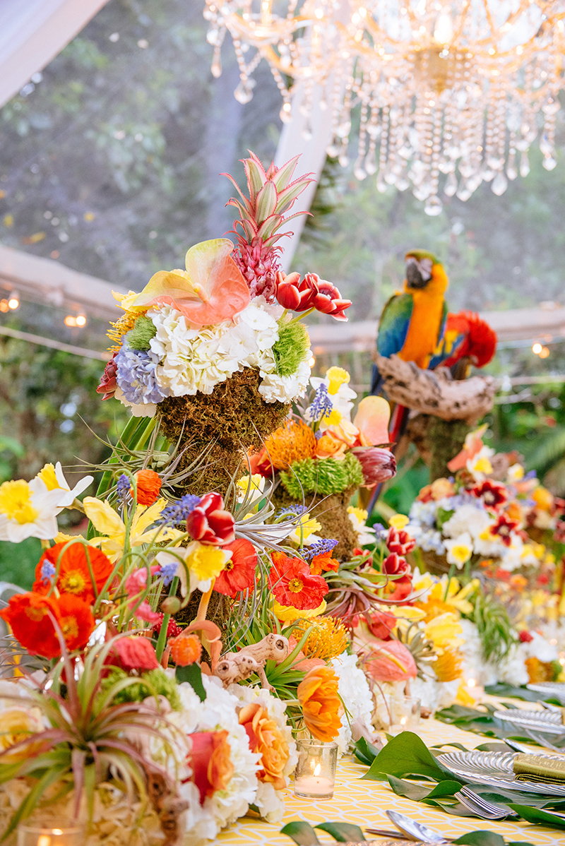 tropical wedding colors