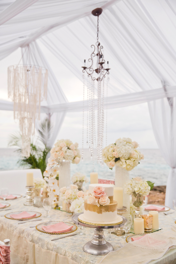 glam beach wedding