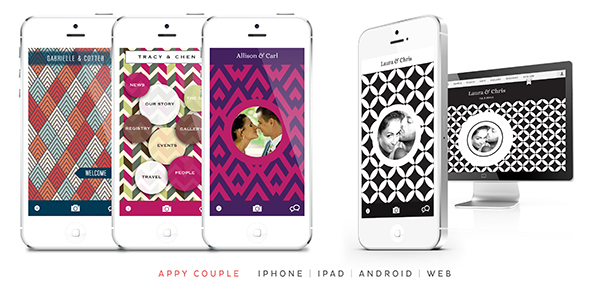 appy couple wedding website
