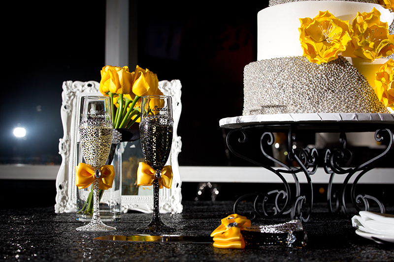 yellow and black weddings