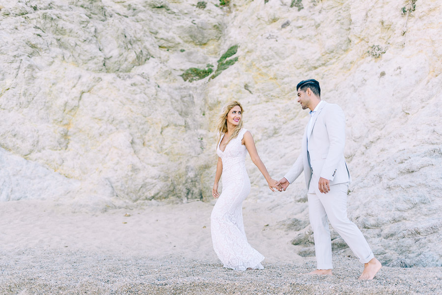 greece beach wedding