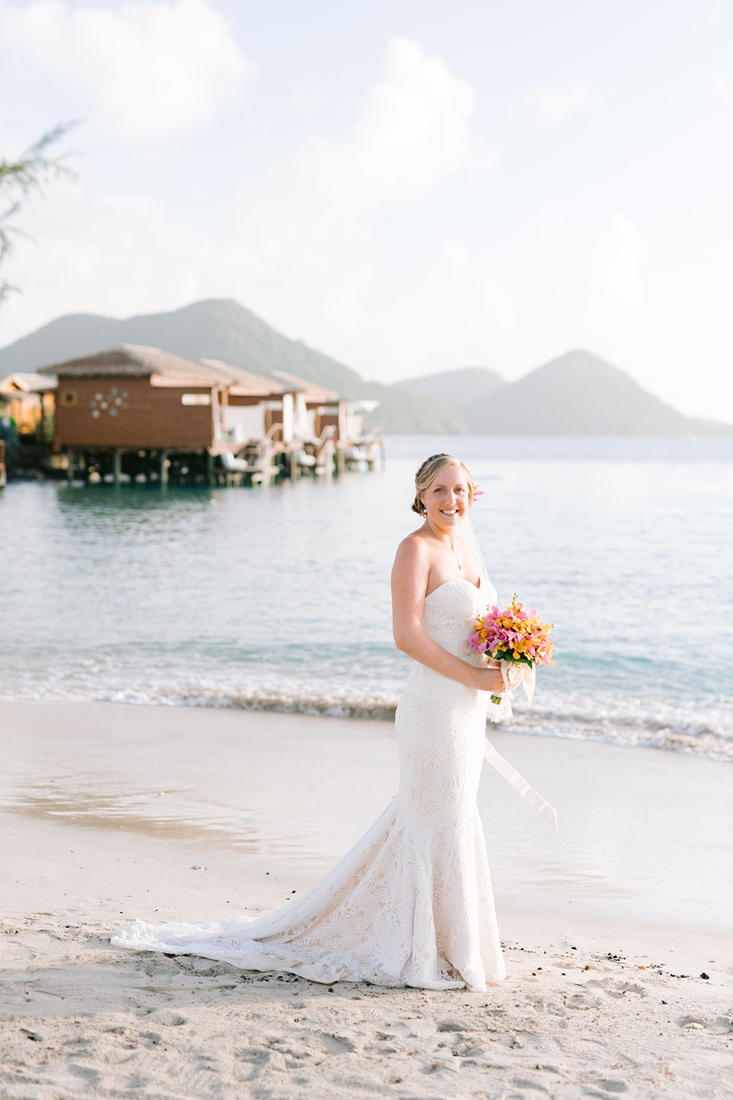 A Tropical Beach Wedding In St Lucia The Destination