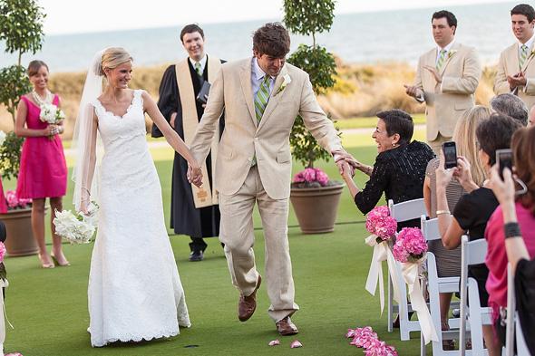 Fuchsia Wedding Flowers Kiawah Island Sc Weddings At The Sanctuary