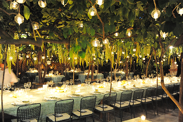 Italy Wedding Menus Lemon Weddings Centerpiece Long Tables