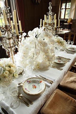 European Destination Wedding Orchid Ideas White
