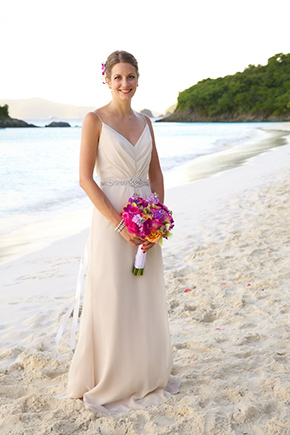 Destination Wedding Dresses Tropical Bridal Bouquet