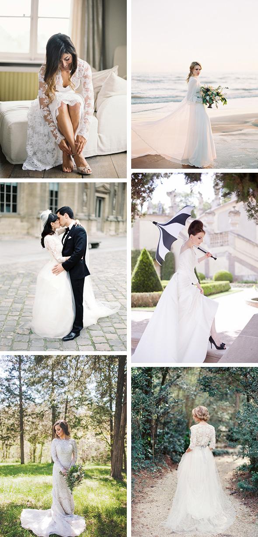 Long Sleeved Destination Wedding Dresses