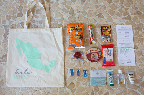Mexico Wedding Welcome Bags